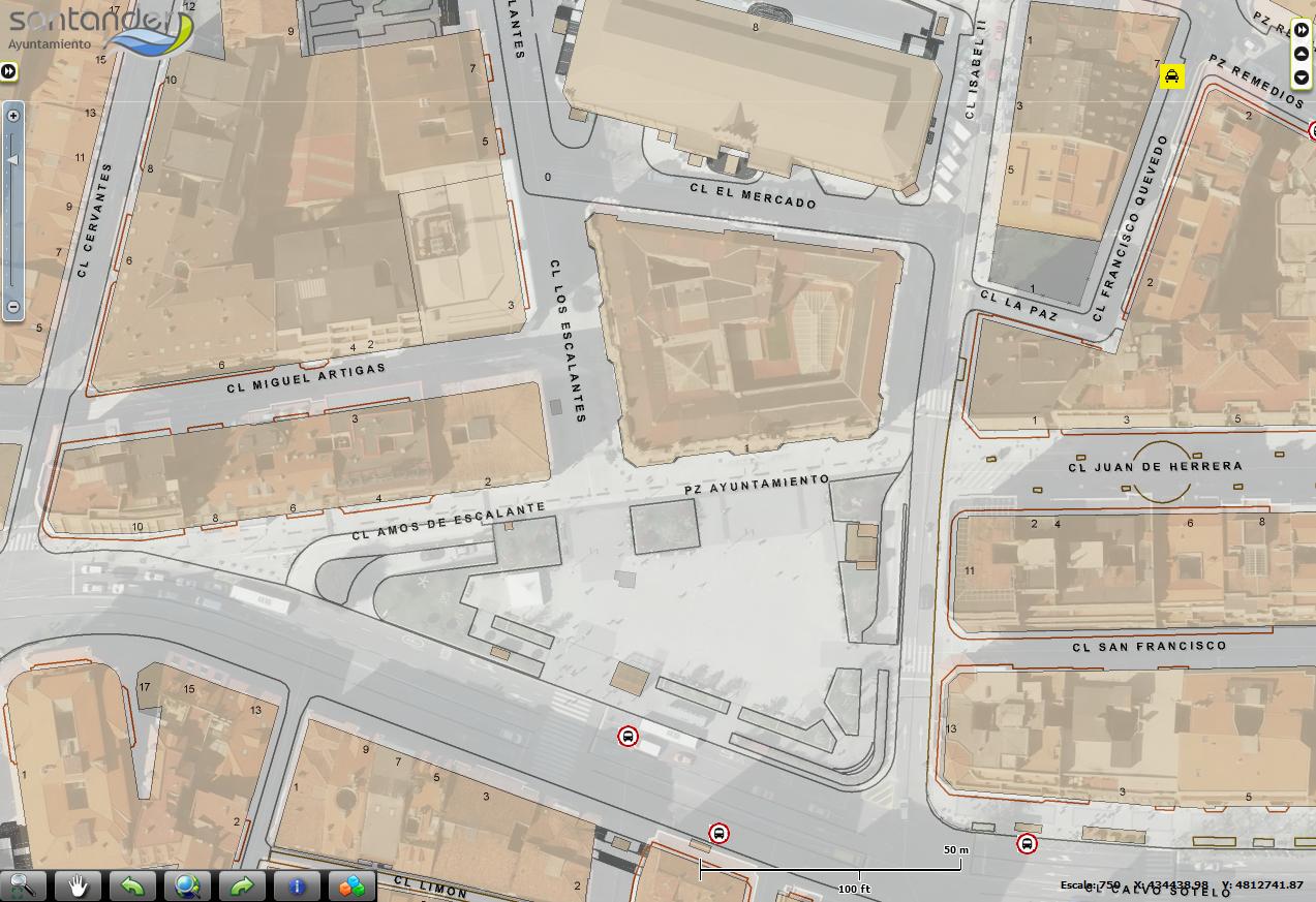 Plano interactivo callejero santander portal for Oficina ola santander