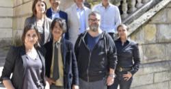 El alcalde y la concejala de Cultura junto a los comisarios de arte