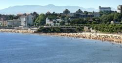 Jardines de Piquio y vista de las playas del Sardinero