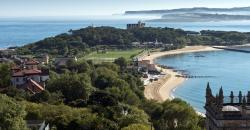 Vista aérea de las playas de la Magdalena y Bikini