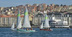 Regata en la bahia de Santander