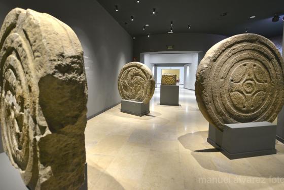 Interior del Museo de prehistoria y arqueologia de Cantabria
