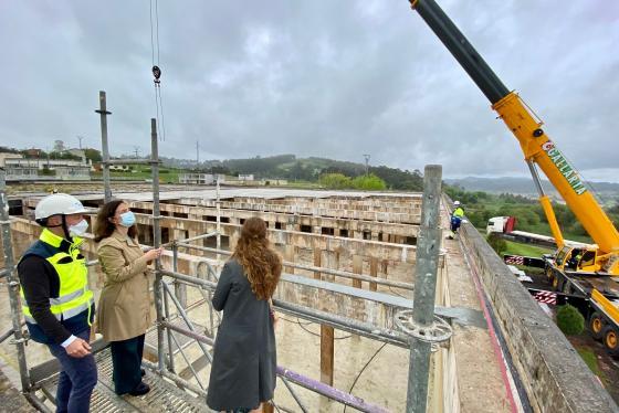 El Ayuntamiento da inicio a las obras de la nueva cubierta del depósito de la ETAP de Santander