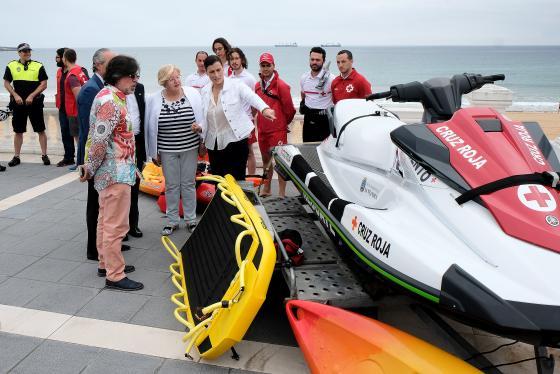 Cruz Roja prestará el servicio de salvamento en las playas de Santander