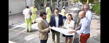 El concejal de Medio Ambiente durante su visita a las obras