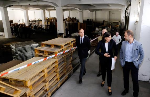 Comienzan las obras del nuevo archivo catastral que abren for Sucursales que abren los sabados santander
